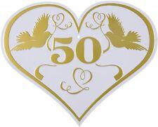 """Goldene Hochzeit Blechschild Deko Schild """"50"""" mit Lochung zum Hängen 30cm x 25cm"""