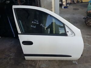 NISSAN PULSAR  N16 RIGHT FRONT COMPLETE ELECTRIC DOOR WHITE