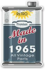 Aged Metal Tin Oil Can MADE IN 1965 Retro Novelty Ratlook Motorcycle car sticker