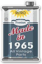 Lata de metal envejecido Lata de Aceite hechos en 1965 Retro Novedad Pegatina de Coche Moto Ratlook