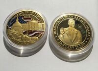 US 56th Presidential Inauguration Barack Obama Challenge Coin COLORIZED Plated
