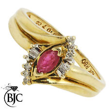 Ruby Yellow Gold 10 Carat Fine Jewellery