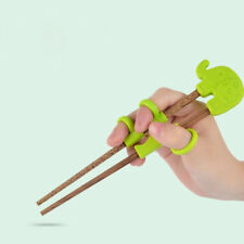 1pair Lovely Baby Teaching Chopstick Silicone Exercise Training Chopstick
