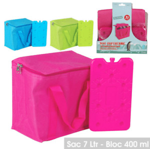 7L COOLING COOLER BAG WITH ICE FREEZER PACK BOX PICNIC CAMPING FOOD DRINK LUNCH