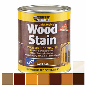Everbuild Wood Stain | Indoor & Outdoor | Quick Drying | All Colours 250ml 750ml