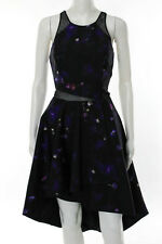 Nha Khanh Multi-Color Sleeveless Violet Dress Size 4 New $595 10209722