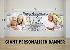 Personalised GIANT Large 25th Silver Wedding Anniversary Poster Banner N19