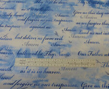 State of Grace The Lord's Prayer Fabric 100% Cotton Religious