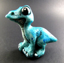 Collectible resinart resin art Blue Baby Dragon magnetic hand painted italy