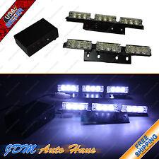 18 LED Emergency Vehicle Strobe lights/Lightbars for Deck Dash Grille - White
