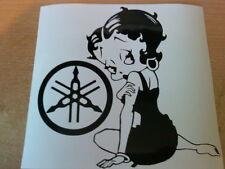 fun sexy Betty Boop  biker girls vinyl sticker novelty decals motorbike tank car