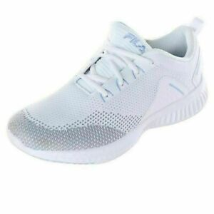 FILA Women's Verso Athletic Gym Shoes Running Lace up White New Mesh Sports