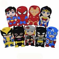 3D Superhero Comic Book Soft Silicone Case For Apple iPhone 4 4S/5 5S/6 6S/6Plus