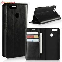 Luxury Genuine Leather Wallet Flip Case Stand Cover For Huawei Nova 2 Nova2 Plus