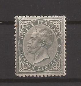 Regno 1863/65 De La Rue Londra Effigie V.E. II 5 cent L16 S.G. MLH* firma Biondi