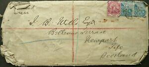 CAPE OF GOOD HOPE 1900 REGISTERED COVER SENT TO FIFE, SCOTLAND