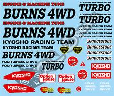 Vintage Kyosho Turbo Burns - Tamiya Schumacher