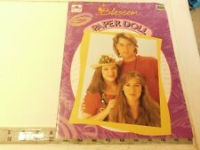 Blossom paper doll book - vintage dolls from the popular tv series uncut