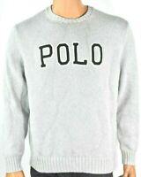Polo Ralph Lauren Mens Sweater New S M L Gray Long Sleeves Crew Neck Winter