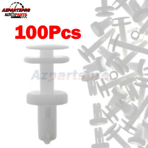 White 100Pack Door Trim Panel Clips Retainer For Chevy GM Chevrolet Express 1500