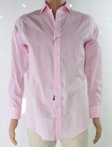 Lauren by Ralph Lauren Mens Dress Shirt Pink 17 Slim Fit Stretch $79- 251