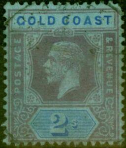 Gold Coast 1921 2s Purple & Blue-Blue SG80b Die II Good Used
