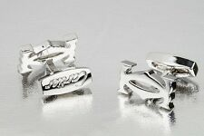 Cartier cufflinks Silver initials Mens jewelry fashion