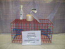 E-Z Catch Red White & Blue Limited Edition Premium Quality Crab Pot w/ Rope Buoy