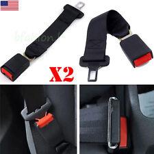 "2 PCS Universal 14"" Car Seat Seatbelt Safety Extender Belt Extension 7/8"" Buckle"