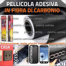 PELLICOLA ADESIVA FIBRA DI CARBONIO 3D PER AUTO MOTO TUNING NAUTICA 150X180 cm