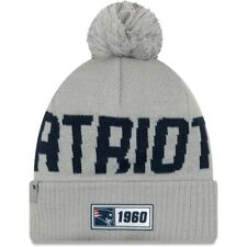 NEW ENGLAND PATRIOTS NFL NEW ERA GRAY SIDELINE KNIT BEANIE WINTER CAP HAT NWT!