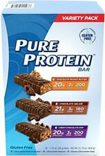 PURE PROTEIN HIGH PROTEIN BAR VARIETY PACK 1.76-OUNCE BAR PACK OF 18, INCLUDES: