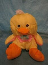 Vintage Fisher Price Puffalump 1992 Easter Chick #8012 Plush Yellow With Bib