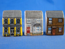 Birchcroft Thimbles -- Set of Three -- Miniature House Shape - Terraces