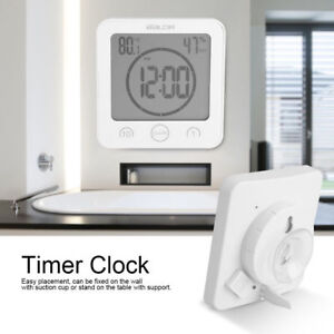 Waterproof Digital Shower Timer Clock Touch Screen Countdown Thermometer 99:99