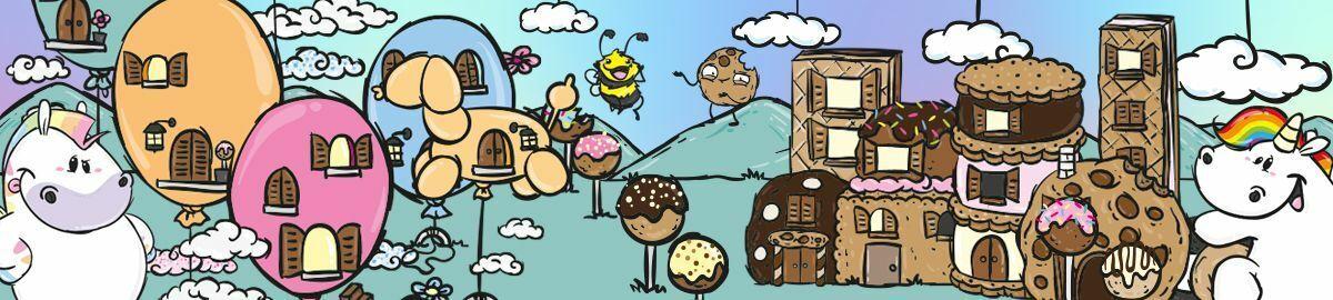 anthrazit Damensocken - Zonbi /& Boo Donut Pummel /& Friends