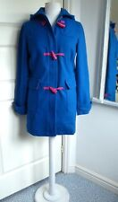 NESS Duffle Coat Hood Montrose Wool Blend Teal Blue Pink Toggle Fastening 6 - 8