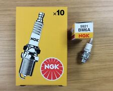 GENUINE NGK BM6A SPARK PLUG LAWNMOWER CHAINSAW TRACTOR GENERATOR with resistor