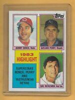 1984 Topps Baseball Trading Card Highlight #6 ~ Bench, Perry, Yastrzemski HOF