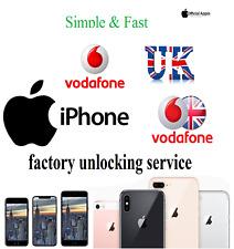 Vodafone UK unlocking service Factory unlock Apple iPhone 6 5s 5c 5 4s 4