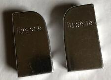 Hygena door handles, two, silver coloured, kitchen cupboard handles, vintage
