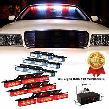 Vehicle Flash Light 54 LED Emergency Dash Warning Police Car EMS Red White New