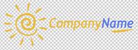 Fertiges Firmenlogo,Template #025 Vektorgrafik, fertiges Logo, Urlaub, Sonne