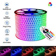 RGB LED Strip 220V 5050 IP67 Waterproof 60/120/144 LED/m Commercial Rope Light
