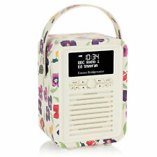 DAB+ Radio Bluetooth FM Alarm - Retro Mini by VQ - Emma Bridgewater Wallflower