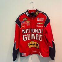 NASCAR Nextel Cup Series National Guard Team Caliber Mens Jacket Red Cotton M