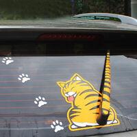 Car Sticker Cat Paw Tail Windshield Rear Window Wiper Cartoon Accessories Kit
