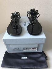 Prada Calzature Donna Black Sandal NIB Sz. 37 Retails $690