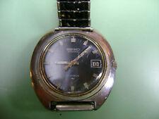 Vintage Seiko Mans Steel watch 7005A Calibre needs service 40mm wide