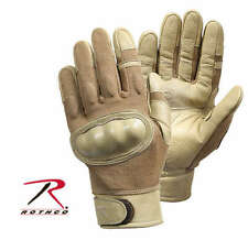 NEW! Rothco Hard Knuckle Tactical Assault Tactical Gloves 3492 Coyote Large